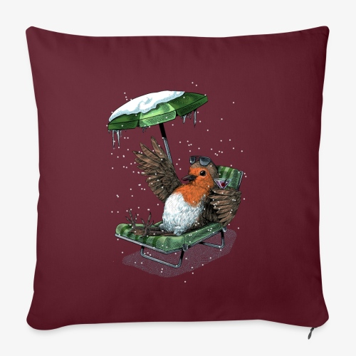 Robin's Holiday - Sofa pillow with filling 45cm x 45cm