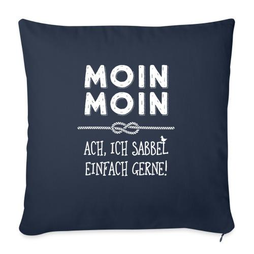 Moin - plattdeutscher norddeutscher Spruch - Sofakissen mit Füllung 44 x 44 cm