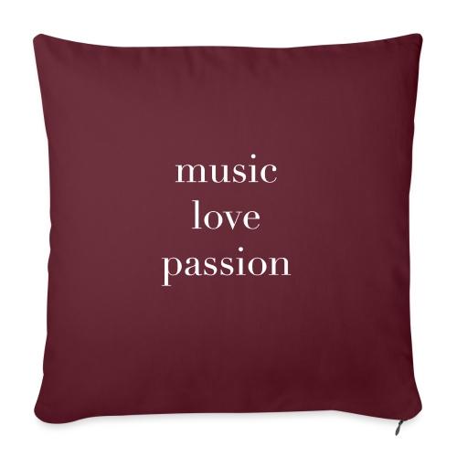 music love passion weiss - Sofakissen mit Füllung 44 x 44 cm