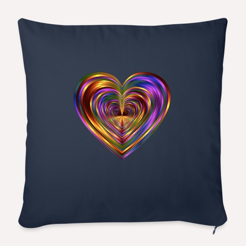 Colorful Love Heart Print T-shirts And Apparel - Sofa pillow with filling 45cm x 45cm