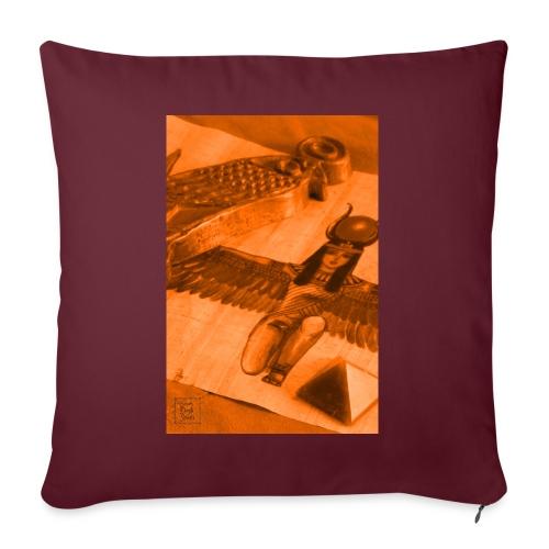 Iside e Horus - Cuscino da divano 44 x 44 cm con riempimento