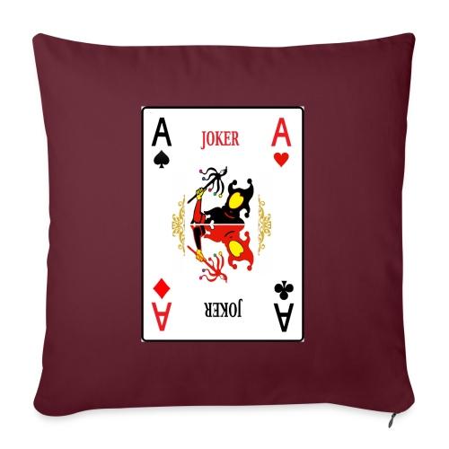 Joker - Cuscino da divano 44 x 44 cm con riempimento