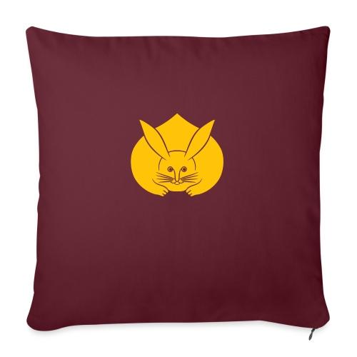 Usagi kamon japanese rabbit yellow - Sofa pillow with filling 45cm x 45cm