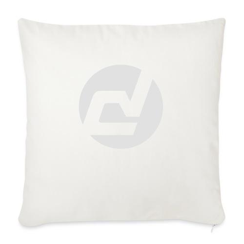 logo blanc - Coussin et housse de 45 x 45 cm