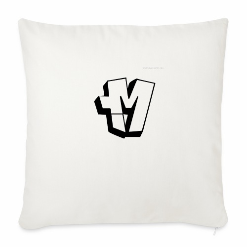 graffiti alphabet m - Sofa pillow with filling 45cm x 45cm