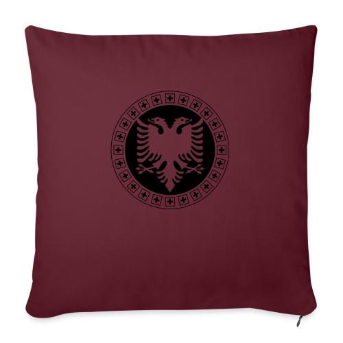 Albanien Schweiz Shirt - Sofakissen mit Füllung 44 x 44 cm