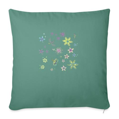 flowers and butterflies - Cuscino da divano 44 x 44 cm con riempimento