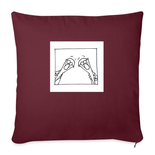 w14 oni - Poduszka na kanapę z wkładem 44 x 44 cm