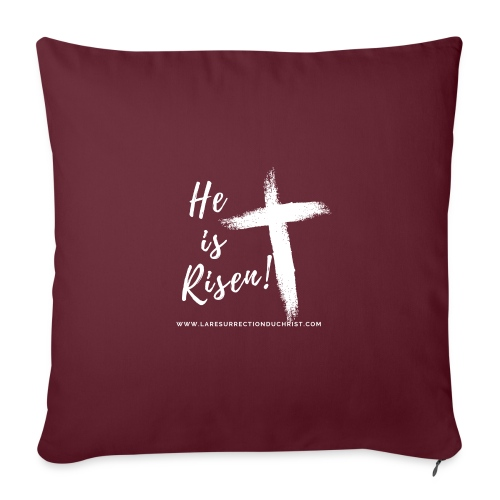 He is Risen ! V2 (Il est ressuscité !) - Coussin et housse de 45 x 45 cm