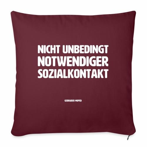 Sozialkontakt - Sofakissen mit Füllung 44 x 44 cm