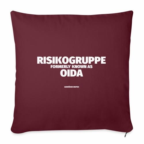 Risikogruppe Oida - Sofakissen mit Füllung 44 x 44 cm