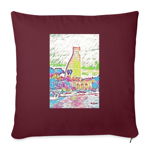 Brindisi - Cuscino da divano 44 x 44 cm con riempimento