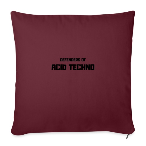 Defenders of Acid Techno [Black Print] - Sofa pillow with filling 45cm x 45cm