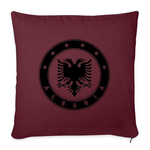 Patrioti Albania Black - Sofakissen mit Füllung 44 x 44 cm