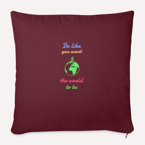 Caring About climate? Save The Planet Print Design - Sofa pillow with filling 45cm x 45cm