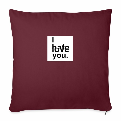 love hate - Sofa pillow with filling 45cm x 45cm