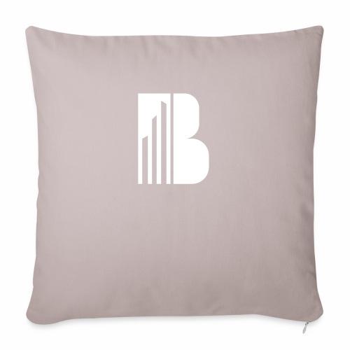 Bricks and the City (white logo) - Cuscino da divano 44 x 44 cm con riempimento