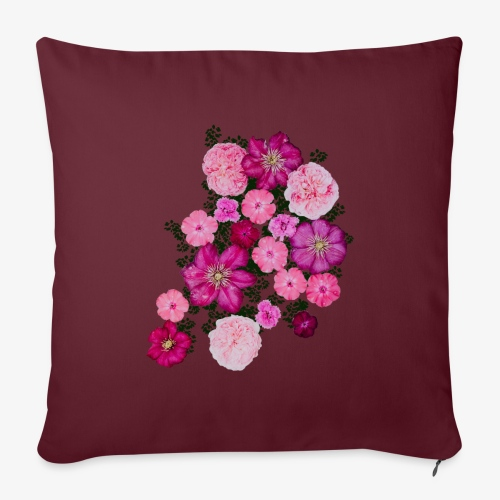 flowers - Sofa pillow with filling 45cm x 45cm