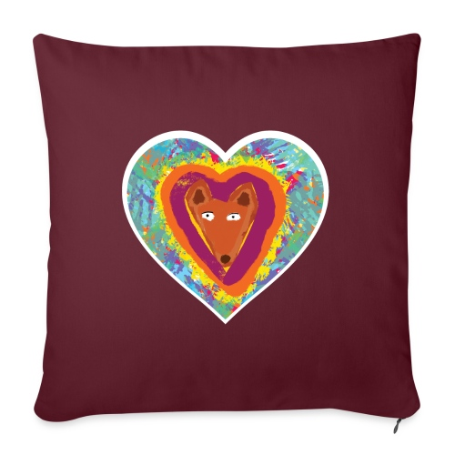 Foxy Heart - Sofa pillow with filling 45cm x 45cm