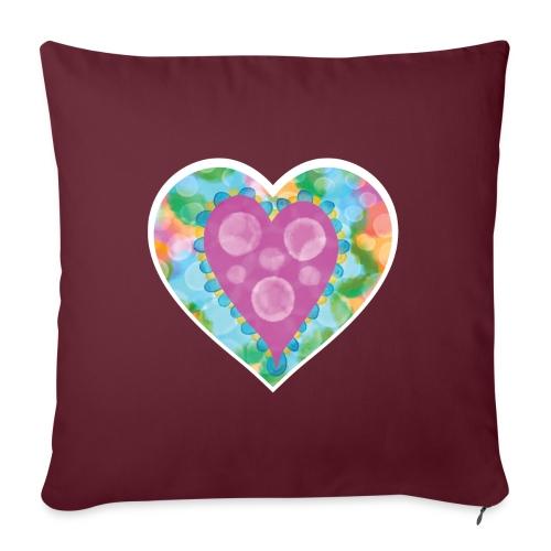 Heart Bubbles make you float - Sofa pillow with filling 45cm x 45cm