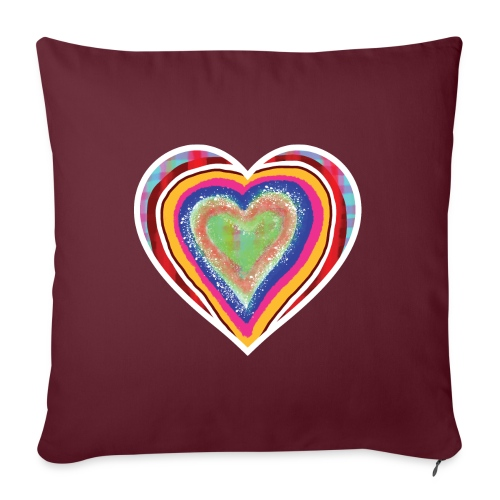 A heart in hearts is pure love on many levels - Sofa pillow with filling 45cm x 45cm