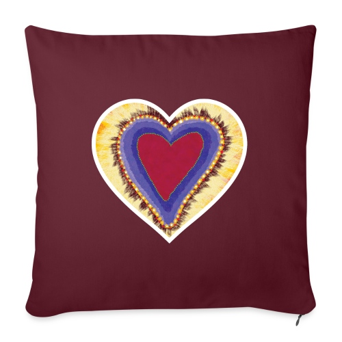 Red heart passion Symbol - Sofa pillow with filling 45cm x 45cm