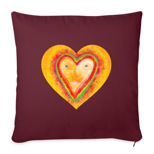 Heartface - Sofa pillow with filling 45cm x 45cm