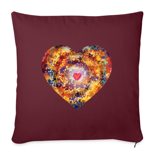 A small big heart of love - Sofa pillow with filling 45cm x 45cm