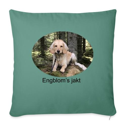 Engblom's jakt (Eichel) - Soffkudde med stoppning 44 x 44 cm