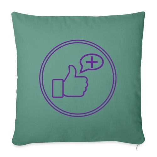 Stay Positive Icons and circle - Sofa pillow with filling 45cm x 45cm