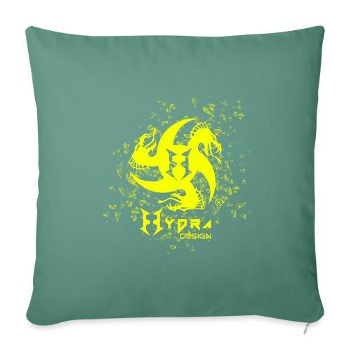 Hydra Design - logo glass explosion - Cuscino da divano 44 x 44 cm con riempimento