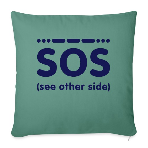 SOS - Bankkussen met vulling 44 x 44 cm