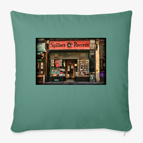 Spillers Records Shop - Sofa pillow with filling 45cm x 45cm