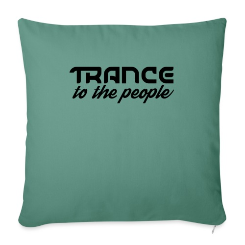 Trance to the People Sort Logo - Sofapude med fyld 44 x 44 cm