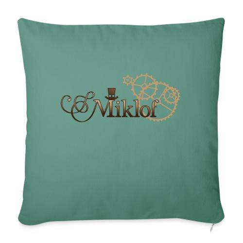 miklof logo gold wood gradient 3000px - Sofa pillow with filling 45cm x 45cm