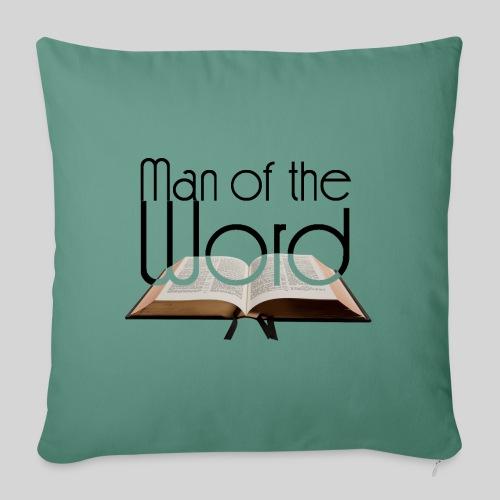 man of the Word - Mann des Wortes - der Bibel - Sofakissen mit Füllung 44 x 44 cm