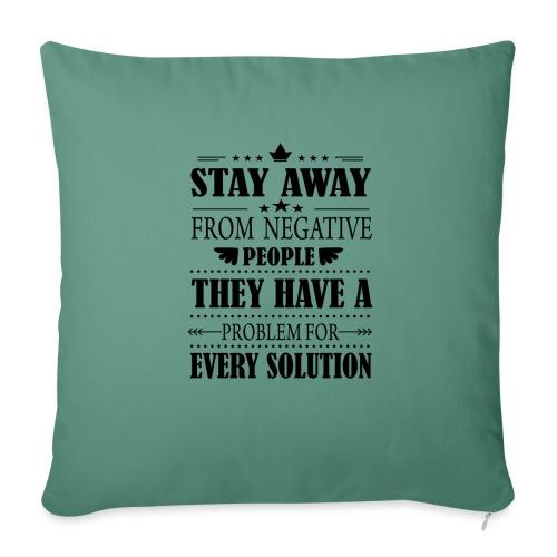 Stay away - Sohvatyynyt täytteellä 44 x 44 cm