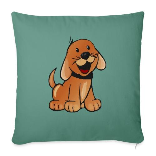 cartoon dog - Cuscino da divano 44 x 44 cm con riempimento