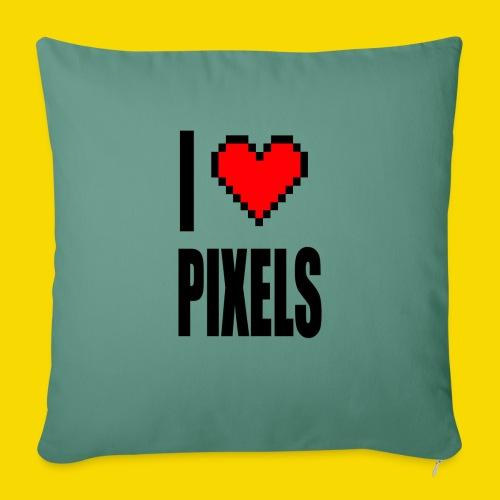 I Love Pixels - Poduszka na kanapę z wkładem 44 x 44 cm
