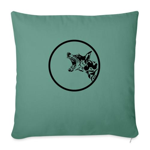dog in a circle frame - Coussin et housse de 45 x 45 cm