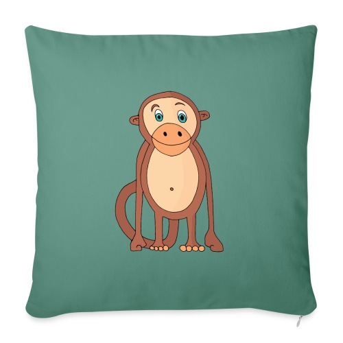 Bobo le singe - Coussin et housse de 45 x 45 cm