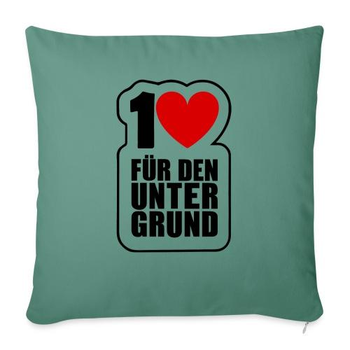 1 Herz für den Untergrund - Original Logo - Sofakissen mit Füllung 44 x 44 cm