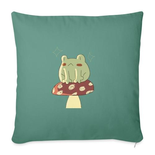 Sitting froggie - Cojín de sofá con relleno 44 x 44 cm