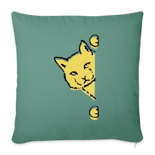 En gul katt - Soffkudde med stoppning 44 x 44 cm