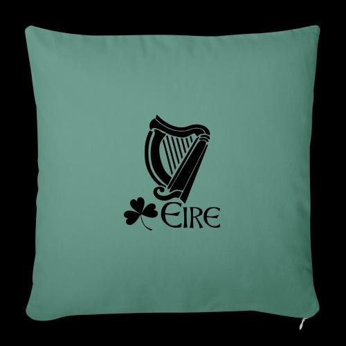 Irish Harp and Shamrock - Sofa pillow with filling 45cm x 45cm