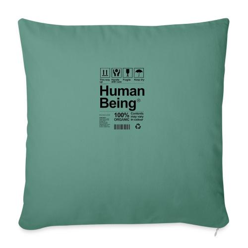 HUMAN BEING - Cojín de sofá con relleno 44 x 44 cm