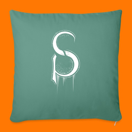 SCP-sign-WHITE transp - Sofa pillow with filling 45cm x 45cm