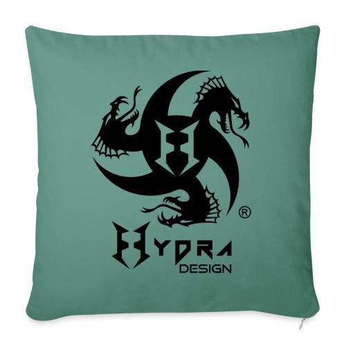 Hydra DESIGN - logo blk - Cuscino da divano 44 x 44 cm con riempimento