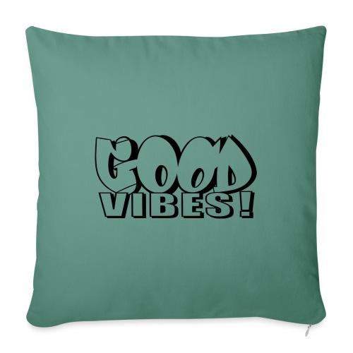 Good Vibes - Sofapude med fyld 44 x 44 cm