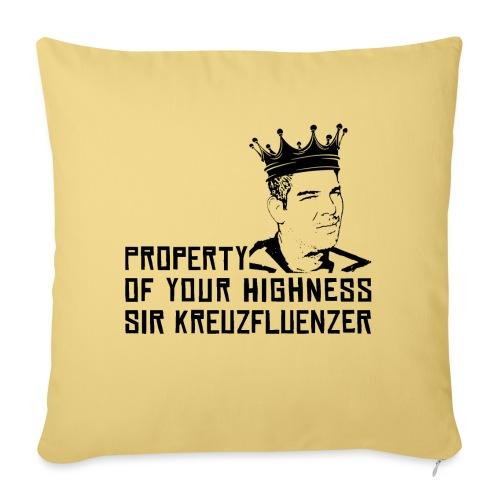 Property of your Highness Black - Sofakissen mit Füllung 44 x 44 cm